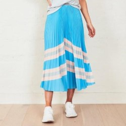 WE ARE THE OTHERS Blue Horizon Sunray Skirt
