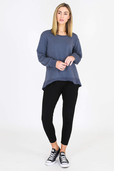 3RD STORY Newhaven Sweater - Steel Blue Sweaters - Zabecca Living