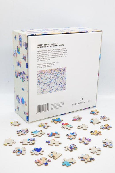 DESTINATION LABEL 1000 Piece Puzzle - Happy People Puzzle - Zabecca Living