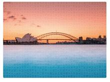 DESTINATION LABEL 1000 Piece Puzzle - Harbour Pastels Puzzle - Zabecca Living
