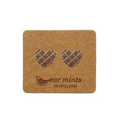 EAR MINTS Textured Heart Earrings Earrings ROSE GOLD - Zabecca Living