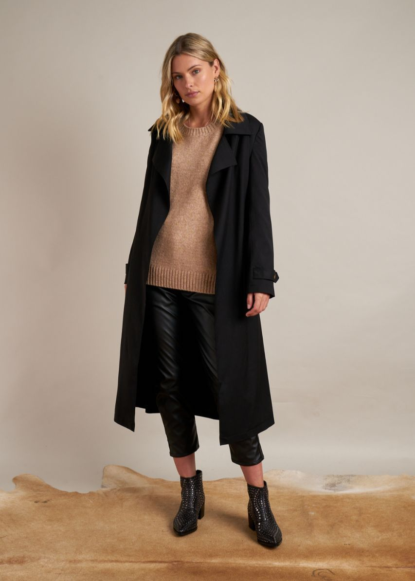 GYSETTE Raffaella Trench Coat - Black Jackets + Coats - Zabecca Living