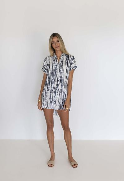HUMIDITY LIFESTYLE Beckie Shirt Dress - Steel Dress - Zabecca Living