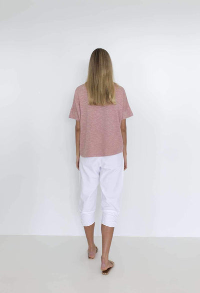 HUMIDITY LIFESTYLE Dippy Tee - Rose Tees - Zabecca Living