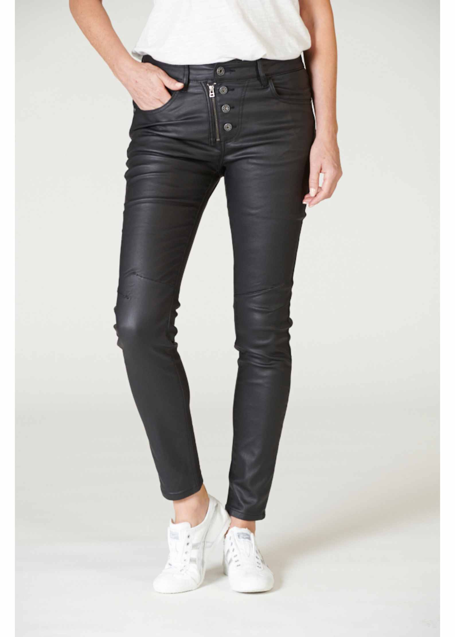 ITALIAN STAR Stevie Jeans - Black JEANS - Zabecca Living