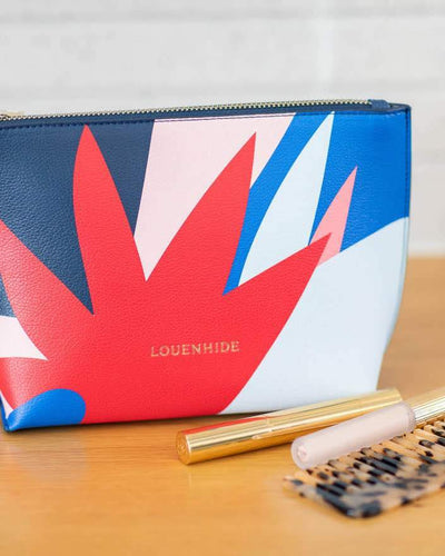 LOUENHIDE Saskia Case - Blue, Red COSMETIC PURSE - Zabecca Living