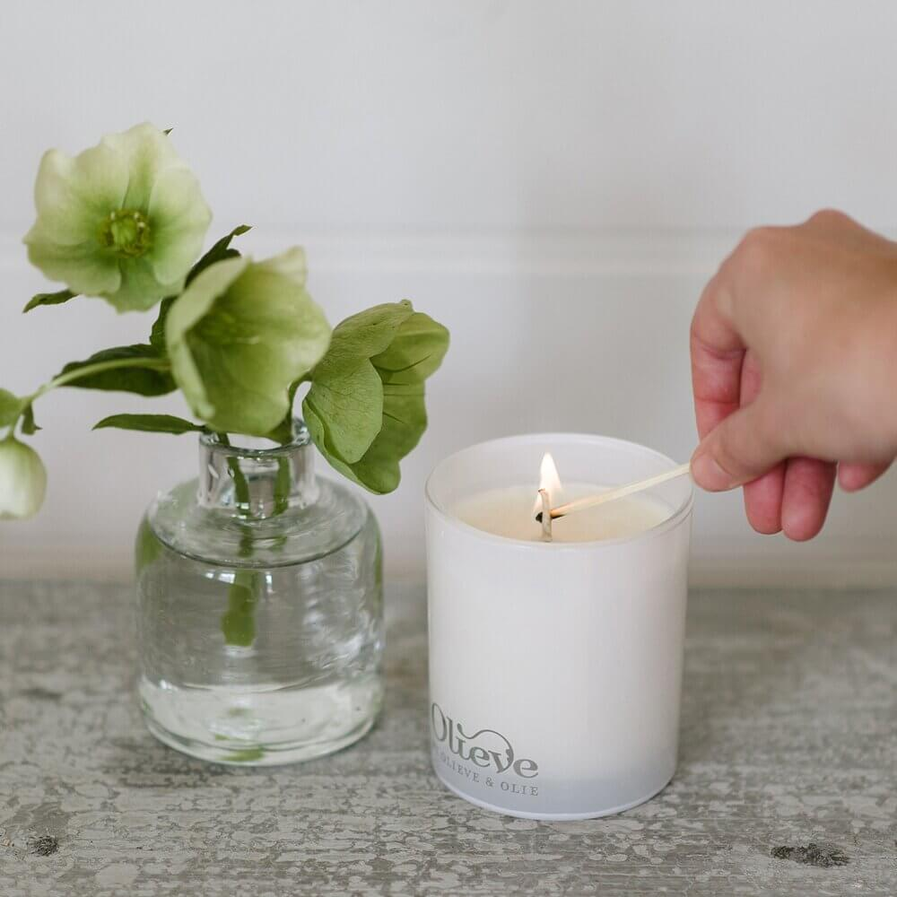 OLIEVE & OLIE Olive Oil & Soy Wax Candle - Black Pepper & Lavender CANDLE - Zabecca Living