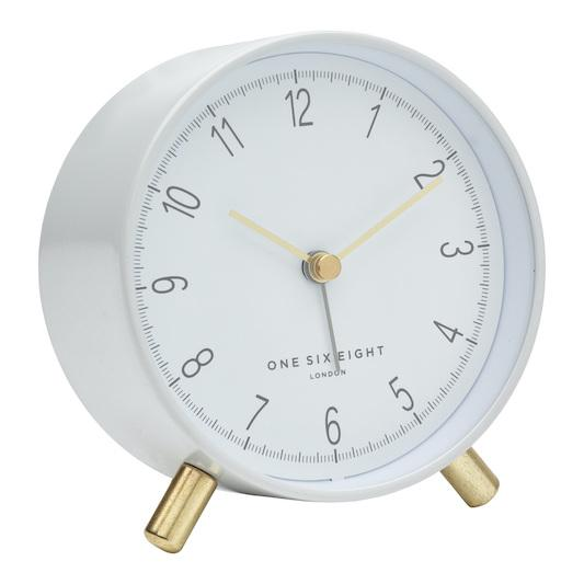ONE SIX EIGHT LONDON Hannah Silent Alarm Clock - White CLOCK - Zabecca Living