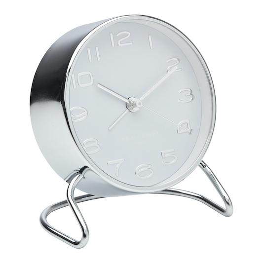 ONE SIX EIGHT LONDON Isabelle Silent Alarm Clock - White CLOCK - Zabecca Living