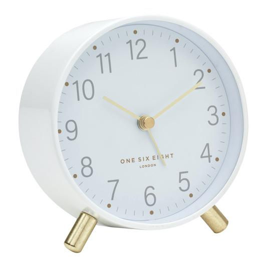 ONE SIX EIGHT LONDON Maisie Silent Alarm Clock - White CLOCK - Zabecca Living