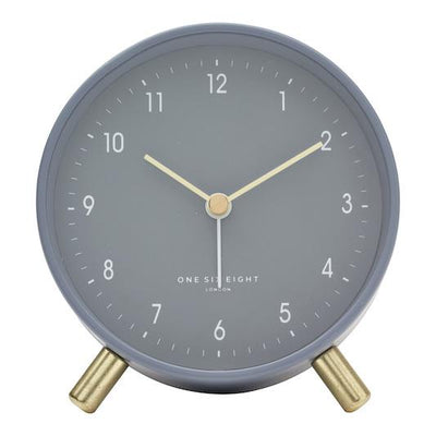 ONE SIX EIGHT LONDON Noah Silent Alarm Clock - Charcoal Grey CLOCK - Zabecca Living