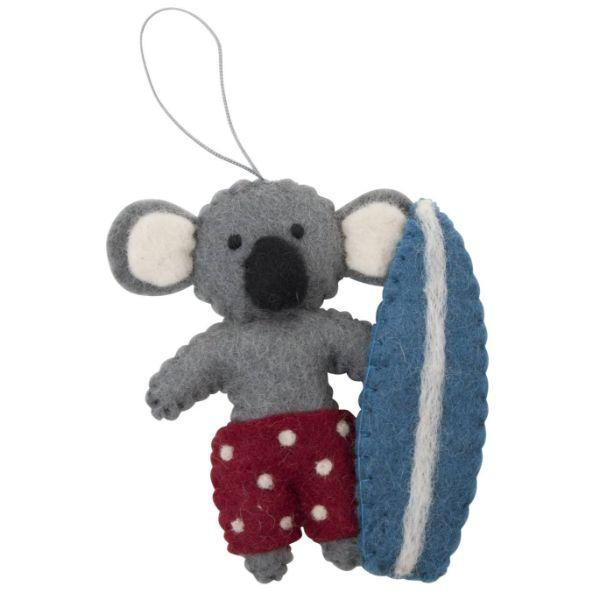 PASHOM Koala With Surfboard FESTIVE DECORATIONS - Zabecca Living