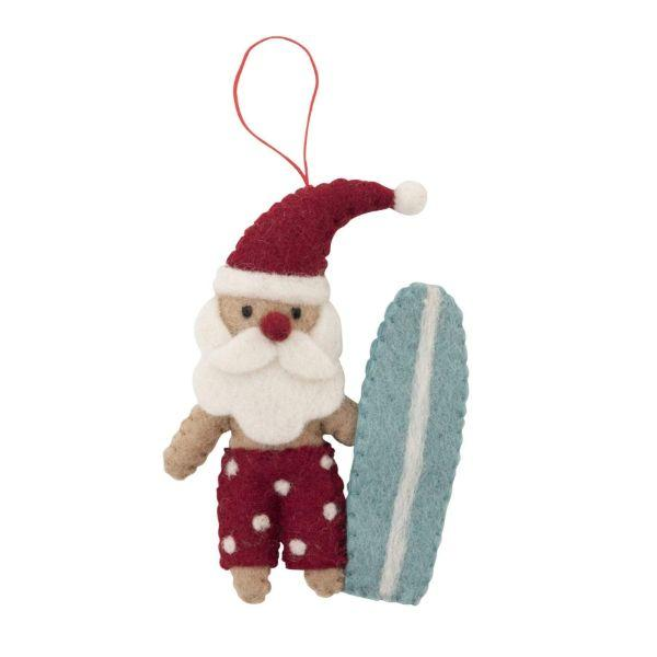 PASHOM Santa With Surfboard FESTIVE DECORATIONS - Zabecca Living