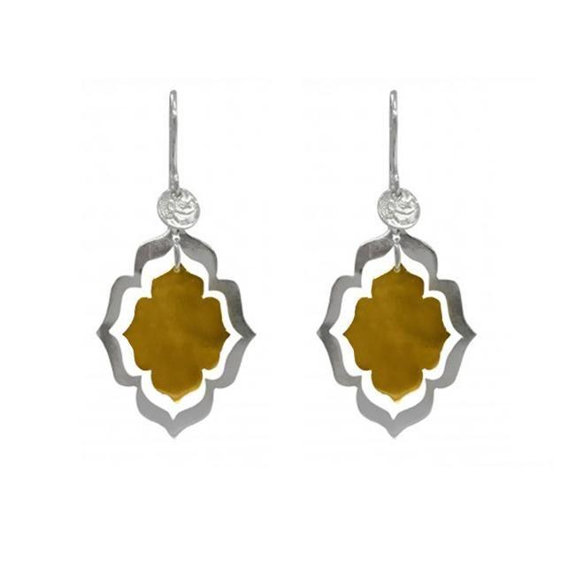 ROYAL HAMAM Mystic Openings Small Earrings - Gold/Silver Earrings - Zabecca Living