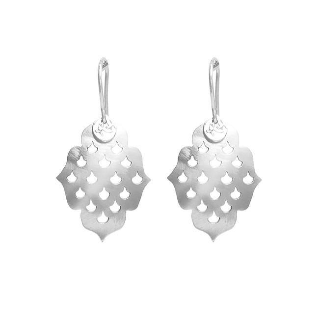 ROYAL HAMAM Screen Goddess Earrings - Silver Earrings - Zabecca Living