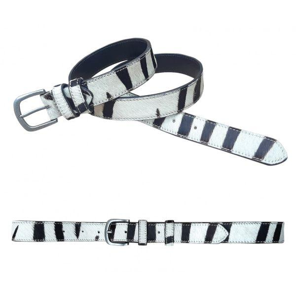 RUGGED HIDE Zebra Belt BELT - Zabecca Living