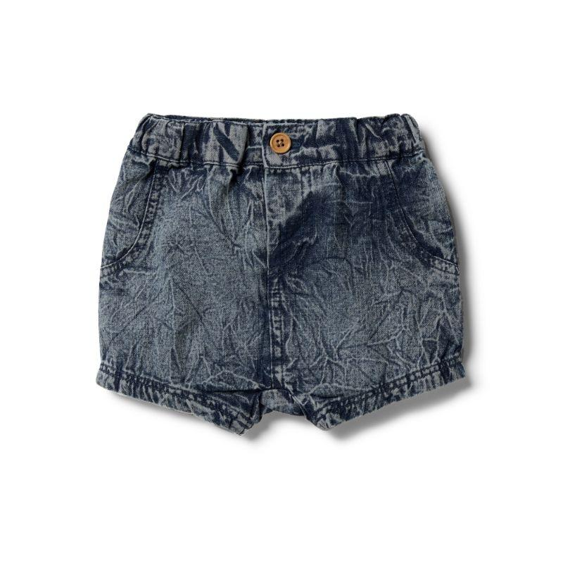 WILSON & FRENCHY Denim Slouch Shorts BABY CLOTHING - Zabecca Living