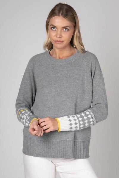 ZAKET & PLOVER Icelandic Cuff Knit - Cloud Combo Jumpers + Knitwear - Zabecca Living