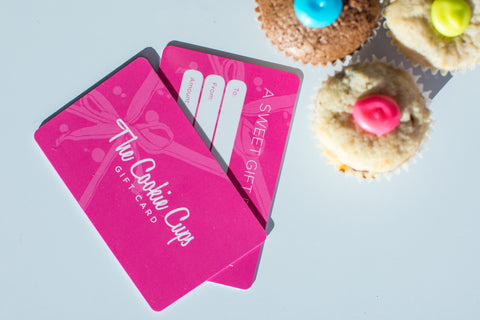cookie cups gift cards