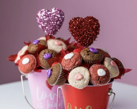 cookie cup bucket bouquets