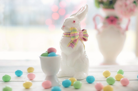 easter bunny table decoration