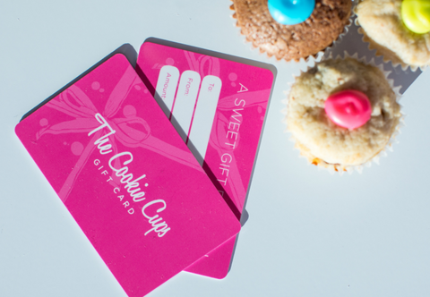 cookie cups gift card - holiday gift idea