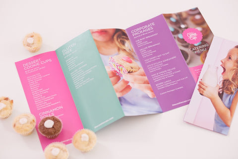 The Cookie Cups catering brochure