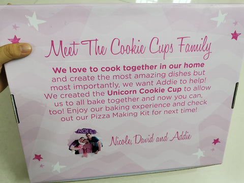 Unicorn Cookie Cup Baking Kit - back