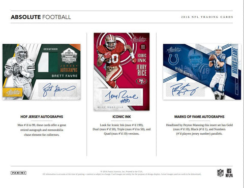 2016 Panini ABSOLUTE Football 10 Box FULL CASE BREAK BEST PRICES LOW PRICES!! PYT #4