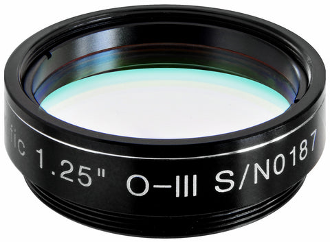 "Explore Scientific O-III Nebula Filter - 1.25"" - 310205 for $107.00 at Khan Scope Centre"