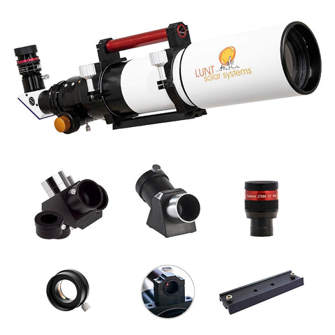 Lunt Solar 100 mm Ha Modular Observer Package - B1200 Blocking Filter - Feather Touch  Focuser - LS100MT-Observer