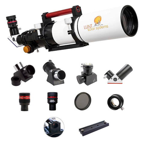 Lunt Solar 100 mm Ha Modular Advanced  Package - B1800 Blocking Filter - Feather Touch  Focuser - LS100MT-Advanced