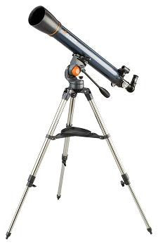 Celestron AstroMaster 90AZ Telescope - 90mm Refractor w/AltAzimuth Mount - 21063 for <span class=money>$350.93 CAD</span> at Khan Scope Centre