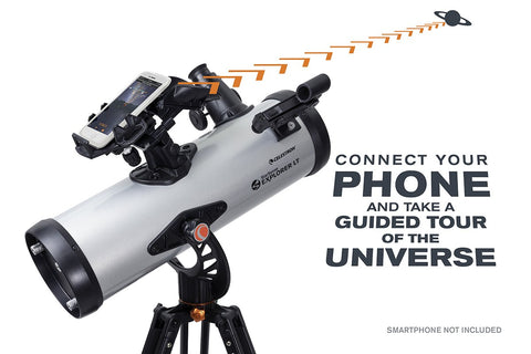 Celestron StarSense Explorer 114 mm LT 114AZ Smartphone App-Enabled Newtonian Telescope with Free Jupiter/Saturn Filter - 22452