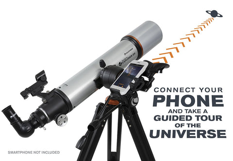Celestron StarSense Explorer 102 mm DX 102AZ Refractor Smartphone App-Enabled Telescope with FREE Eyepiece Kit - 22460