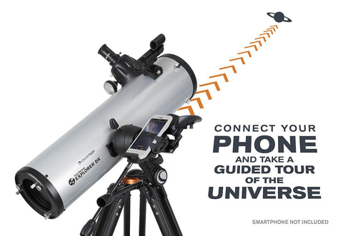 Celestron StarSense Explorer 130AZ DX Newtonian Smartphone App-Enabled Telescope with FREE Eyepiece Set - 22461