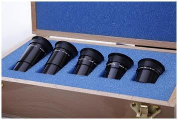 "Box Set of Five 1.25"" Parfocal Brandon Oculars w/ Birchwood Case [BRNDNBXSET] for $1292.00 at Khan Scope Centre"