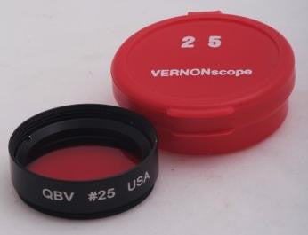 "Red Eyepiece Filter #25 - 1.25"" Round Mounted for $46.00 at Khan Scope Centre"