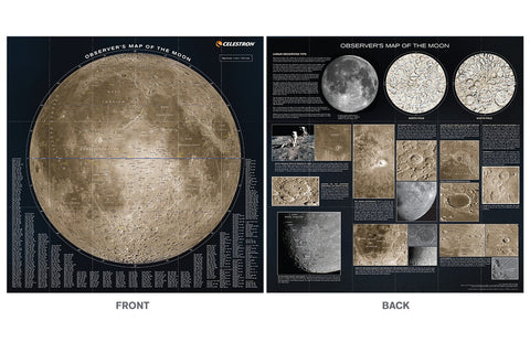 Celestron Deluxe Folding Observer's Map of the Moon - 93704