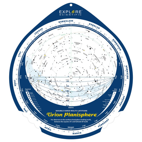 Explore Scientific Tirion Double-Sided Multi-Latitude Planisphere - ES-TPS018