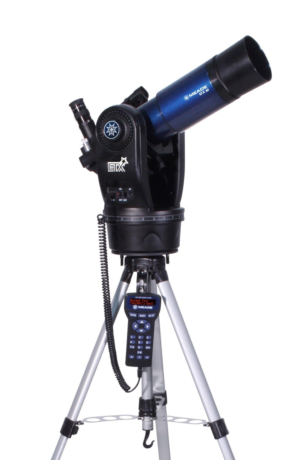 Meade ETX-80AT-TC (f/5) Achromatic Refractor with full height tripod  (0805-04-21)-