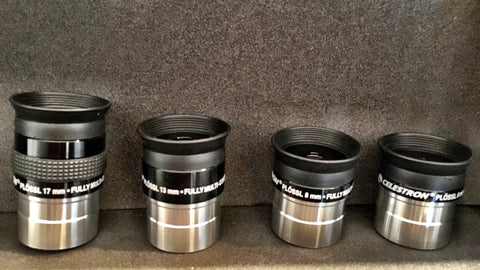 "Celestron Plossl Eyepieces  , 17mm 13mm, 8mm, 6mm  1.25""( Set of 4 ) (Pl4FS) for $84.00 at Khan Scope Centre"