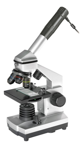 Bresser Junior 40x - 1024x Microscope Set with USB Camera - 8855001 for <span class=money>$134.00 CAD</span> at Khan Scope Centre