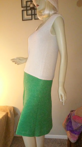 Green Hand Knit Skirt