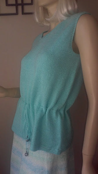 Aqua Blue Soft Knit Top