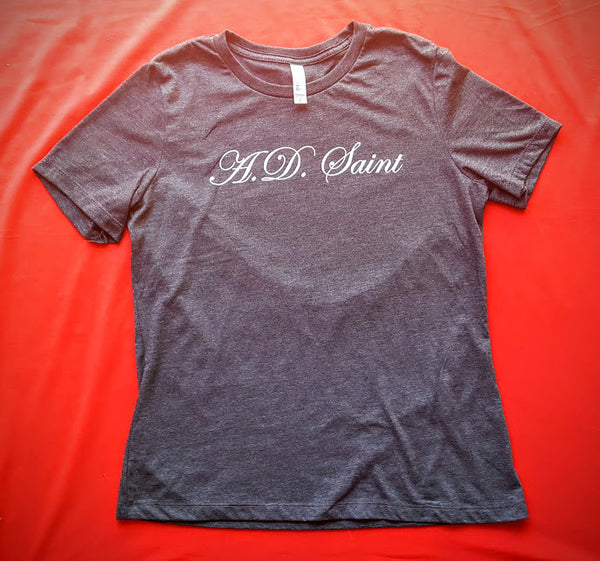 A.D. Saint Ladies Relaxed Fit Tee- Heather Grey