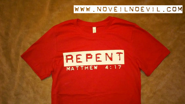 REPENT Logo Tee - Red (Unisex)
