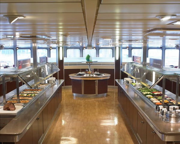 Victoria one day tour: The Pacific Buffet on the ferry is inclusive.