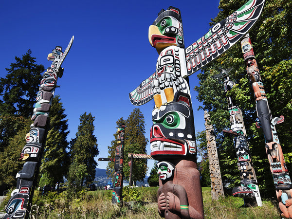 Vancouver one day tour: Stanley Park: First Nations Totem Poles