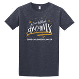 "Adult ""Save Childhood Dreams"" T-Shirt-Heather Navy"